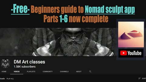 FREE-Beginners guide to Nomad sculpt app Interface and basic functions.