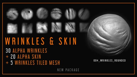 Wrinkles and Alpha Skin Textures