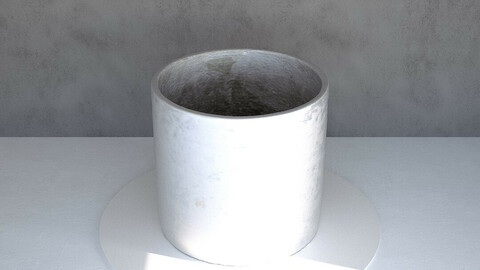 Concrete Pot [3d Scan Model: Homewares / Pots]