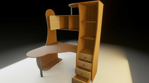 Computer desk and Wardrobe