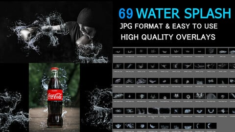 Creative Water Splash Photo FX  Texture Bundle Set