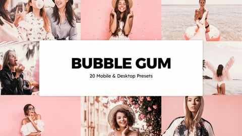 20 Bubble Gum LUTs and Lightroom Presets
