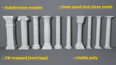 Columns Collection -2 - 10 pieces