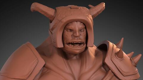 Monster high poly 3d model
