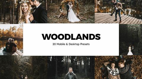 20 Woodlands LUTs and Lightroom Presets