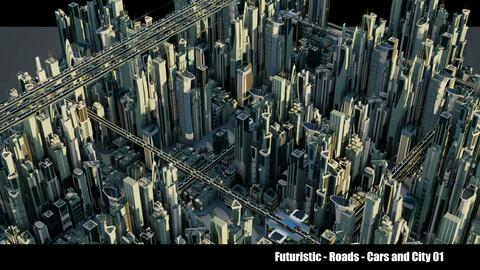 Futuristic-Car-Roads-City v1