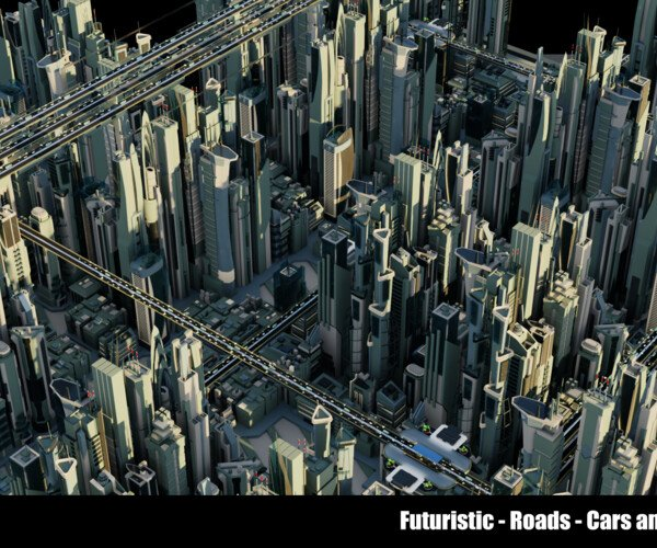 ArtStation - Futuristic-Car-Roads-City v1 | Game Assets