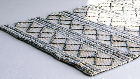 Black Diamond Wool Floor Rug / Carpet [3d Scan Model: Homewares / Soft Furnishings]