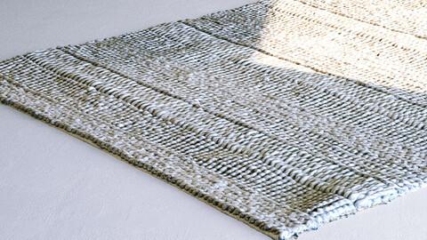 Grey Wool / Woven / Knit Floor Rug / Carpet [3d Scan Model: Rugs / Homewares / Soft Furnishings]