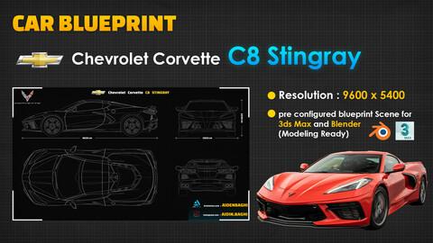 Chevrolet Corvette C8 Stingray Blueprint
