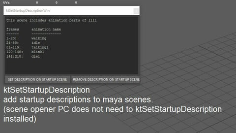 Startup Scene Comment for Maya