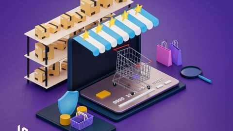 E-commerce isometric illustration