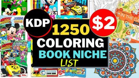 1250+ KDP Coloring Book Niches