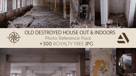Photo/Textures Reference Pack: Abandoned and Old Destroyed, Broken House (Inner & Outer Parts)