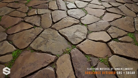 Flagstone with clovers - Substance Designer