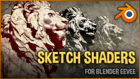 Sketch shaders for Blender Eevee