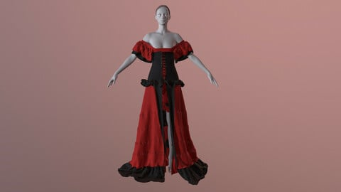 Dress for CanCan
