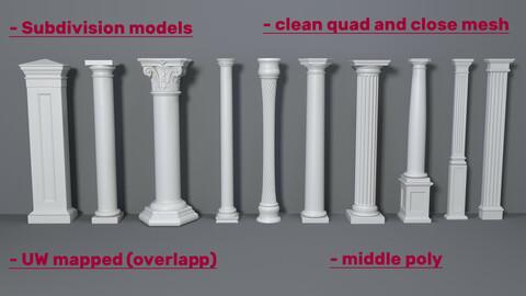 Columns Collection -3 - 10 pieces