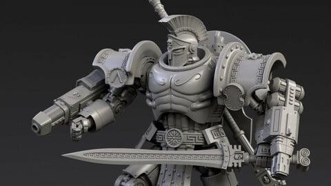 DeamonSlayer-Spartan Multipart Kit for 3D Print