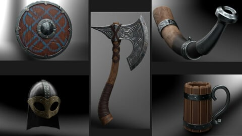 Celtic Weapons Kit Gameready