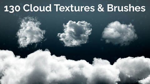 130 Hi-Res Cloud Textures and Brushes for VFX and Concept Art (Great for Dust & Smoke FX)