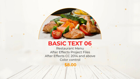 Food Menu Restaurant Promotion After Effects Project