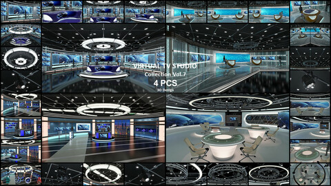 Virtual TV Studio Collection Vol 7 - 4 PCS DESIGN