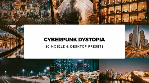 20 Cyberpunk Dystopia LUTs and Lightroom Presets