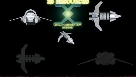 "3D ""Vulture"" Starfighter"