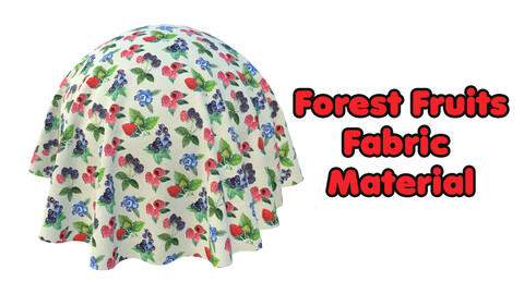 Forest Fruits Fabric Material Design / Sbsar / Substance painter