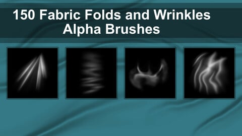 150 Alpha Brushes - Fabric Folds and Wrinkles