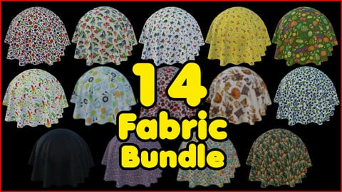 14 High Quality Fabric Material Bundle