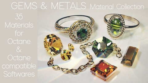 GEMS & METALS Material Collection for Octane