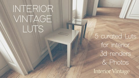 Interior Vintage - Curated 3D Luts