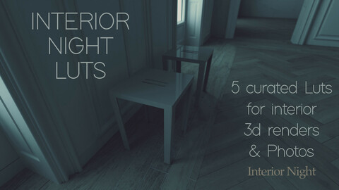 Interior Night - Curated 3D Luts