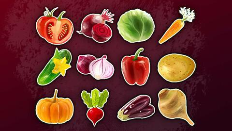 Sprites | Icons - Resource [Food Vegetables]