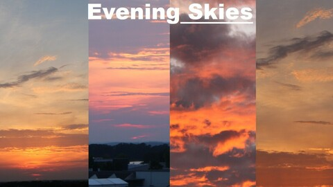 Sky Replacement Evening Skies (56 Skies!!!)