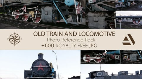 Photo Reference Pack: Old Train And Locomotive (Ideal For Production)