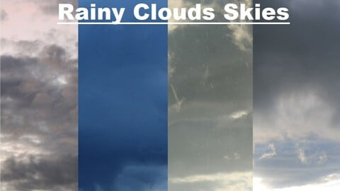 Rainy Clouds Sky Replacement (6 Textures)