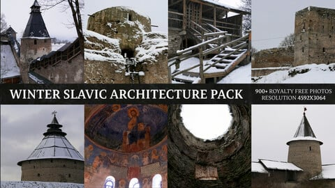Winter Medieval Slavic Architecture Pack