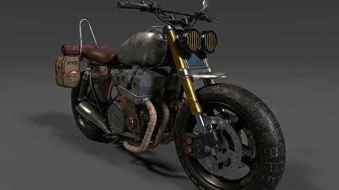Survivor Motorcycle Post Apocalyptic Game Ready