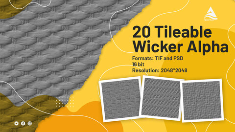 20 Tileable Wicker Alpha