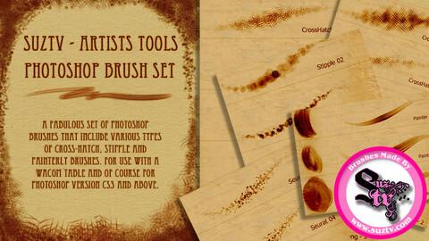 Artists Tool Photoshop Brush Set by Suztv