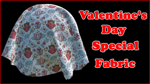 Valentine's Day Special Fabric V3 / Sbsar / Substance Painter