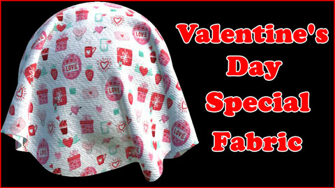 Valentine's Day Special Fabric V4 / Sbsar / Substance Painter