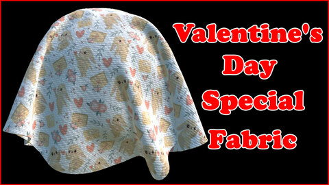 Valentine's Day Special Fabric V6 / Sbsar / Substance Painter