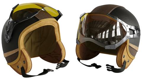 Moto helmet leater 02