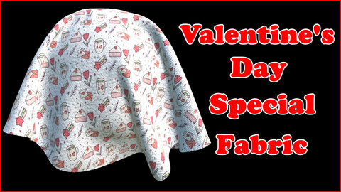 Valentine's Day Special Fabric V8 / Sbsar / Substance Painter