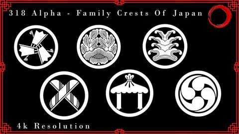 Vol .  9 - 318 Family Crests Of Japan - Alphas 4k Resolution