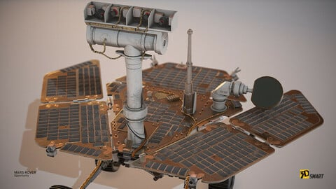 Opportunity Mars Rover (LowPoly)
